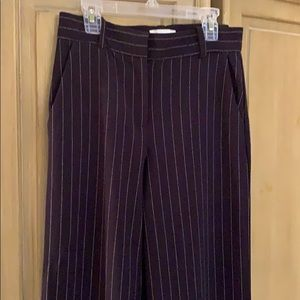 Women's Navy blue pinstriped pants